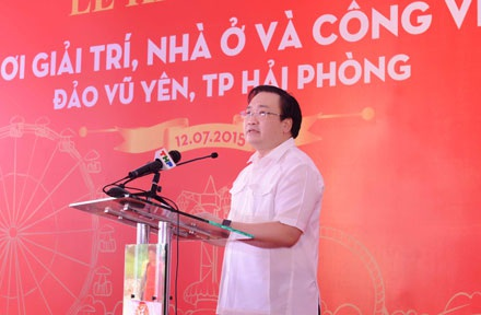 Khởi công dự án sinh thái 19 nghìn tỉ đồng tại đảo Vũ Yên