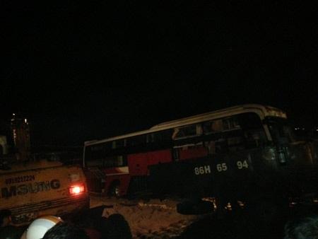 Chiếc xe sau khi được trục vớt.