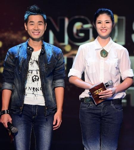 Hoa hậu Ngọc Hân đã kết hợp ăn ý cùng người bạn MC của mình