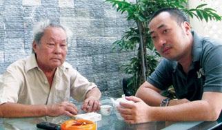 Đạo diễn Nguyễn Quang Dũng và cha mình - nhà văn Nguyễn Quang Sáng