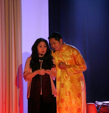 NSND Hồng Vân và Minh Luân