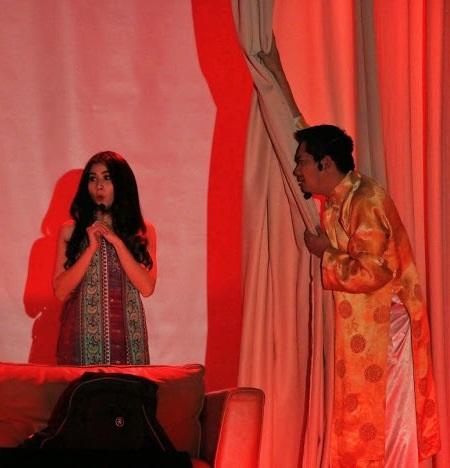 Diễn viên Kha Ly và Minh Luân