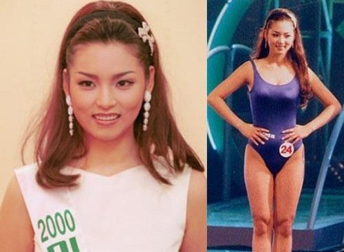 Hình ảnh lúc Park Shi Yeon đăng quang Á hậu 2 Hàn Quốc năm 2000