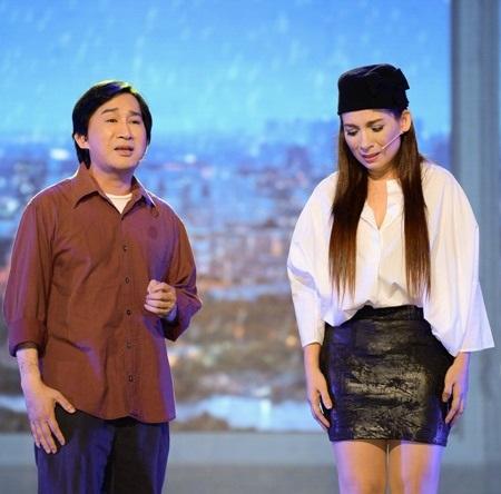 Tiết mục RuȠlại câu hò cùng với Dương Triệu Vũ lấy không ít nước mắt khán giả.