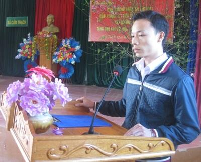 Em Nguyễn Văn Lý phát biểu, cám ơn Thứ trưởng Nguyễn Viết Tiến.
