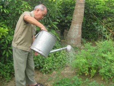 Niềm vui giản dị của người cựu binh Điện Biên.
