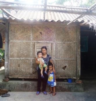 Ngôi nhà trú mưa che nắng của gia đình chị Đặng Thị Huệ