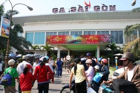 Ga Sài Gòn thêm chuyến về miền Trung dịp Tết dương lịch