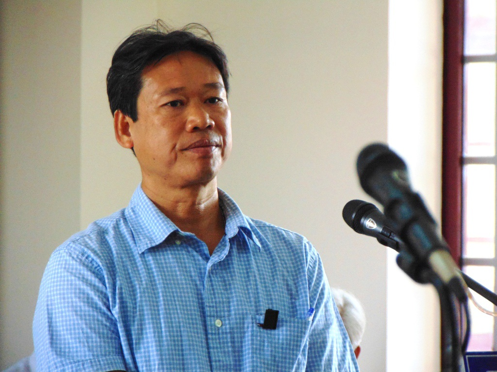 Bị cáo Nguyễn Đức Trung tại phiên tòa sơ thẩm