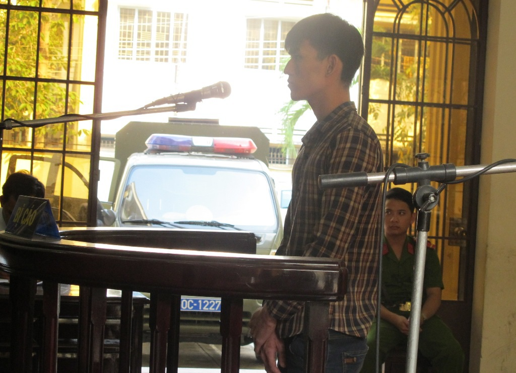 Bị cáo Trần Hoài Thương tại phiên tòa sơ thẩm