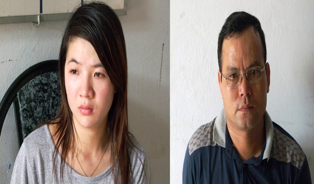 """Vợ chồng """"bà mối"""" Châu Thị Thùy Trang và Huang Qin Lu"""