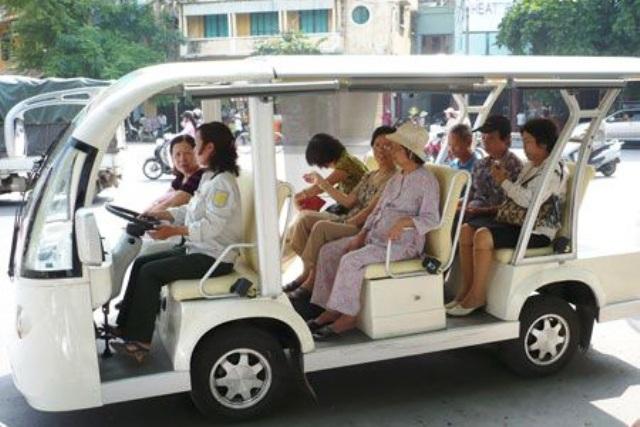 Mô hình xe điện tại Hà Nội