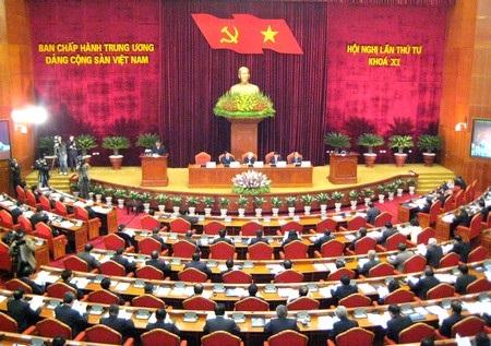 Hội nghị Trung ương 4 (khóa XI) họp từ ngày 26 đến 31/12/2011. (Ảnh: HH)