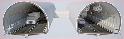 Mô hình ống hầm thứ hai Hầm Hải Vân