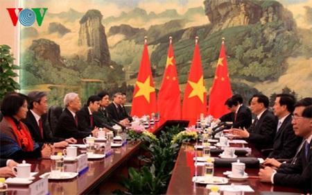 Thủ tướng Lý Khắc Cường bày tỏ vui mừng được đón tiếp và hội kiến với Tổng Bí thư Nguyễn Phú Trọng
