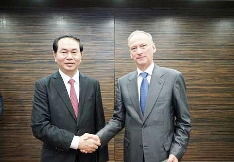 Bộ trưởng Trần Đại Quang và Đại tướng, Thư ký Hội đồng An ninh Liên bang Nga.