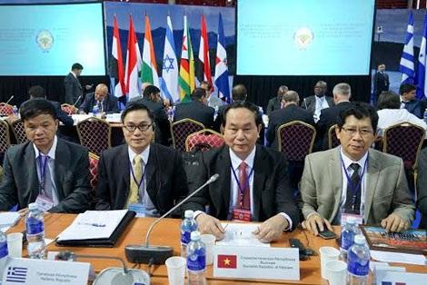 Bộ trưởng Trần Đại Quang và đoàn đại biểu Bộ Công an Việt Nam