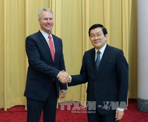 Chủ tịch nước Trương Tấn Sang tiếp ông Gary Pruitt, Chủ tịch hãng AP