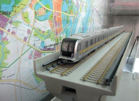 Mô hình đoàn tàu đường sắt Cát Linh - Hà Đông