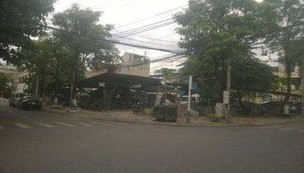 Hai lô đất bố trí cho bà Minh ở đường Phan Bội Châu (quận Hải Châu). Ảnh: Dân Trí.