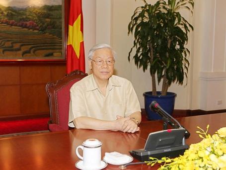 Tổng Bí thư Nguyễn Phú Trọng trả lời phỏng vấn một số hãng thông tấn, báo chí Hoa Kỳ
