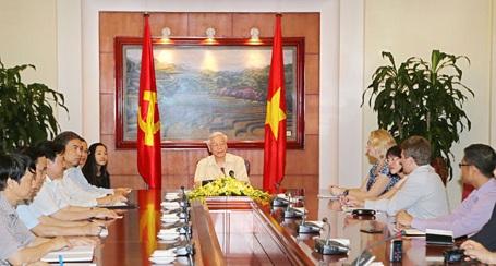 Tổng Bí thư: Quan hệ Việt-Mỹ có bước tiến dài mà 20 năm trước ít ai hình dung được