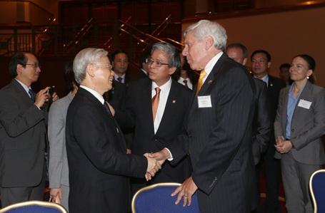 Tổng Bí thư Nguyễn Phú Trọng gặp gỡ đông đảo đại diện các tầng lớp xã hội Việt Nam - Hoa Kỳ