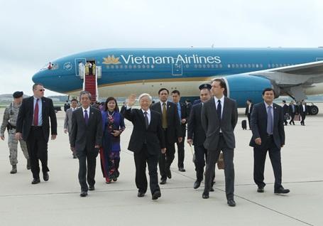 Tổng Bí thư Nguyễn Phú Trọng bắt đầu thăm chính thức Hoa Kỳ