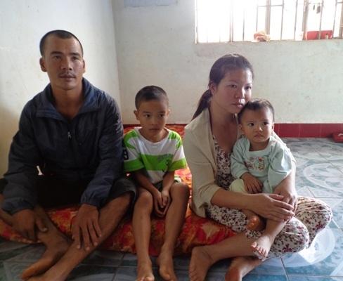 Vợ chồng anh Quý có 2 người con đều mắc bệnh tim bẩm sinh