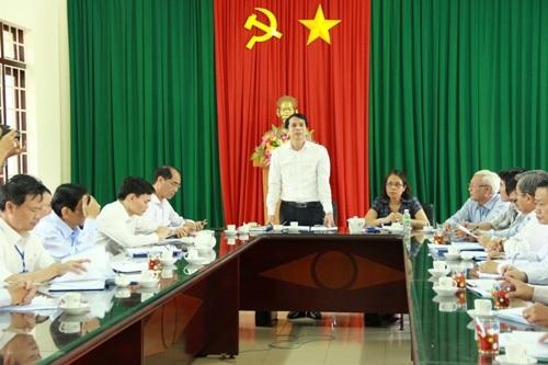 Thứ trưởng Phạm Mạnh Hùng làm việc về công tác chuẩn bị thi tại Đắk Lắk