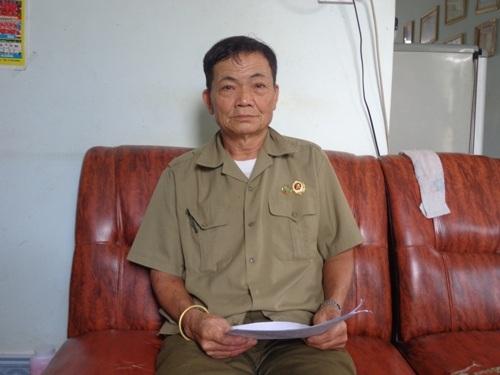 Ông Hoàng Văn Nguyên đứng ra tố cáo ông Đỗ Đức K. làm giấy tờ thương binh giả để hưởng chế độ