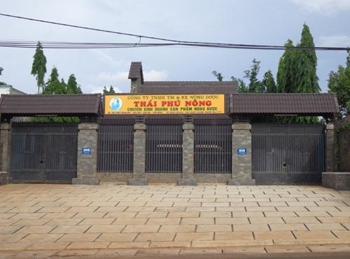 Trụ sở Công ty Thái Phú Nông