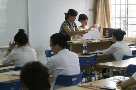 Riêng ở Hà Nội, trường Đại học Hà Nội có 33 phòng thi.
