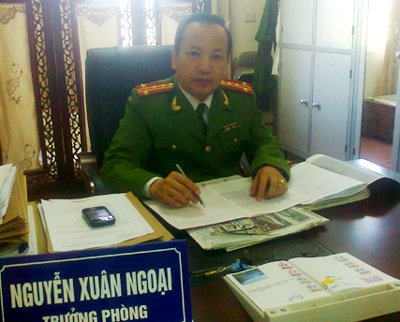 Đại tá Nguyễn Xuân Ngoại, trưởng phòng PC52 công an tỉnh Lào Cai. Ảnh T.G