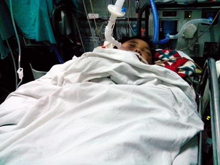 Bà Doãn Thị Bình - Bác ruột của bệnh nhi Đỗ Doãn Lộc.