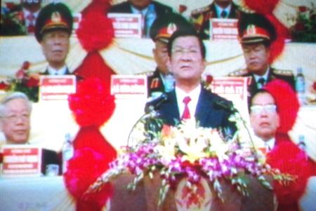Bắt đầu Lễ diễu binh, diễu hành mừng chiến thắng Điện Biên