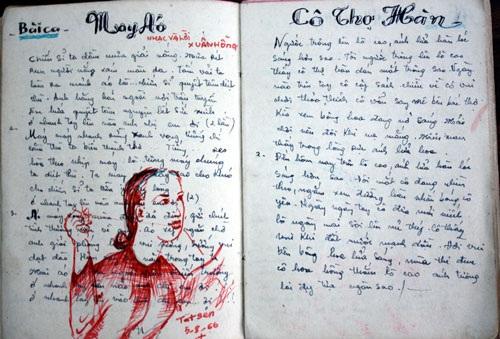 Một trang sổ ghi chép lại cảm xúc ở Cửa Tùng, Quảng Bình