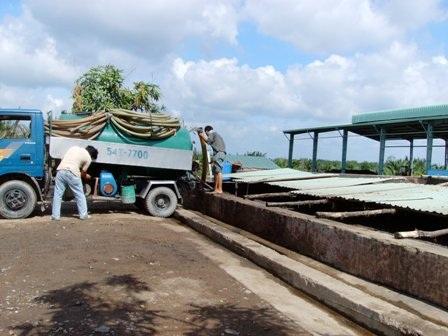 Nhà máy xử lý bùn hầm cầu tại Đa Phước (Bình Chánh)