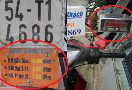 Đồng hồ cước và bảng giá cước niêm yết rõ ràng trên xe