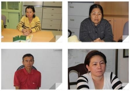 Các đối tượng trong đường dây buôn bán người bị bắt giữ