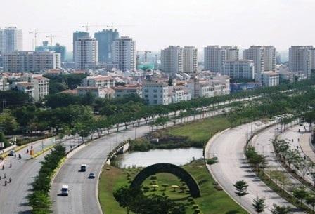 Khu đô thị Phú Mỹ Hưng hiện hữu sẽ là trung tâm của thành phố phía