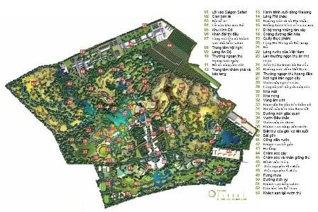 Sơ đồ tổng thể công viên Sài Gòn Safari