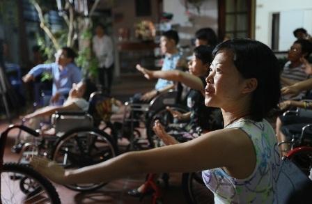 Theo vũ sư Đinh Thanh Hiếu, môn học này sẽ giúp các bạn khuyết tật vui khỏe hơn, giảm stress…