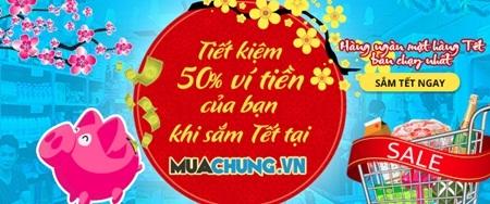 Đa dạng các mặt hàng Tết được giảm giá tới 50% trên Muachung.vn