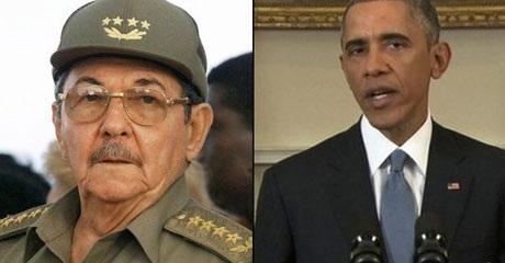 Chủ tịch Cuba Raul Castro và Tổng thống Mỹ Barack Obama