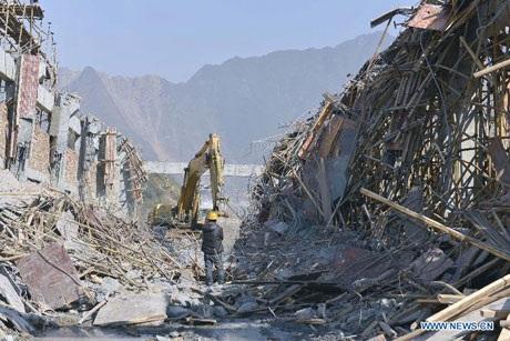 Sáu công nhân đã thiệt mạng trong vụ sập giàn giáo tại thành phố Sâm Châu, tỉnh Hồ Nam ngày 2/1