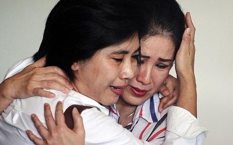 Người thân nạn nhân trong vụ tai nạn QZ8501