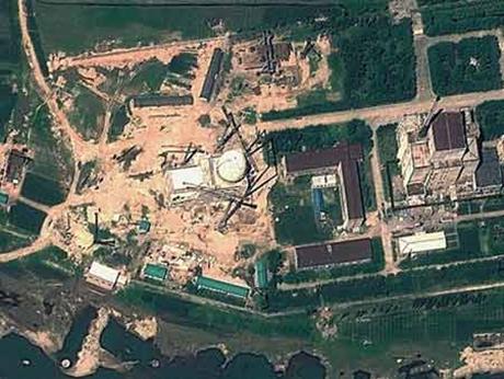 Hình ảnh vệ tinh khả nghi thu được tại tổ hợp hạt nhân Yongbyon. (Nguồn: