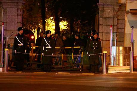 Lực lượng an ninh đã kiểm soát tình hình sau vụ việc trên. (Ảnh: