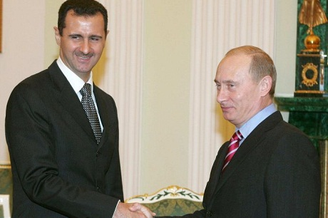 Tổng thống Syria al-Assad và Tổng thống Nga Putin. (Ảnh: